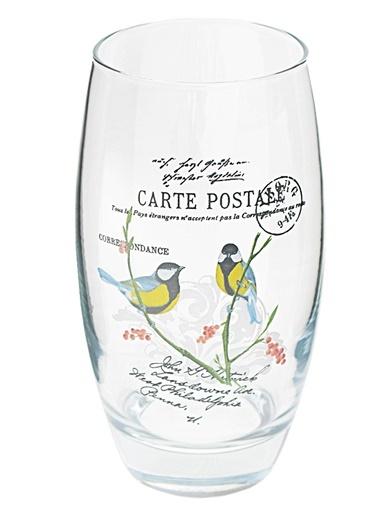 3 Lü Meşrubat Bardağı Kuş Cenneti-Joy Glass